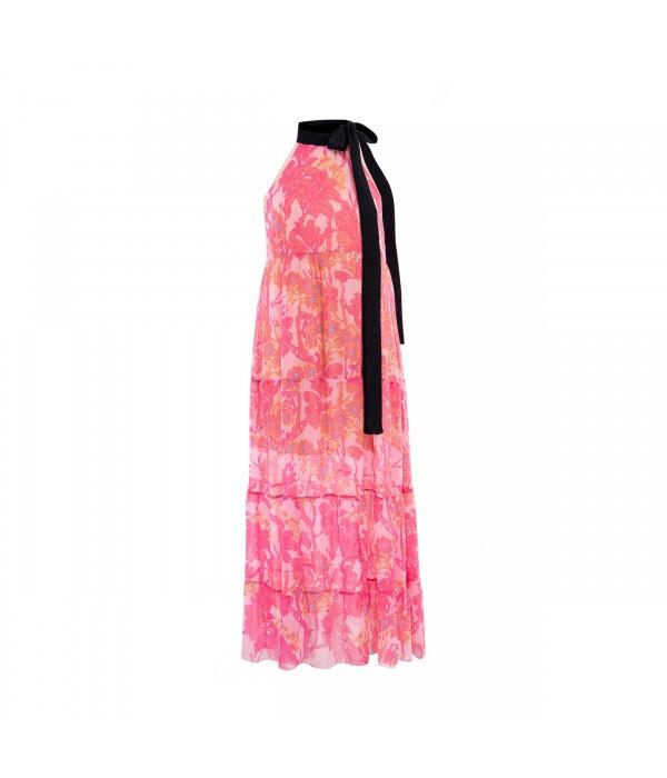 Sukienka Pink Maxi Floral