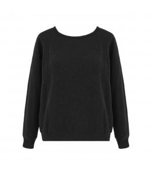 Ciemny sweter, sweter damski